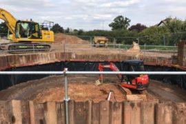 Wimborne shaft construction